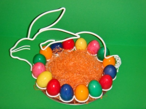 Rabbit Shaped Egg Stand with a tray Price: 35 JDs